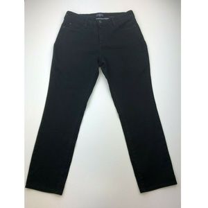 NYDJ Womens Legging Jeans 12 Black Stretch A79-03Z